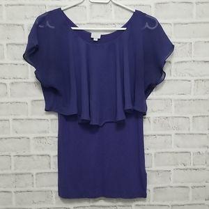 3/$20 Suzy Shier Drape Blouse